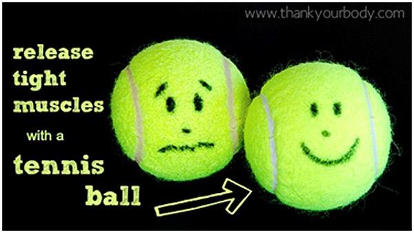 tennis ball - Managing Sciatica